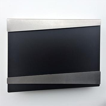 gro/ßer Briefkasten mit Zeitungsfach 13x 14 2//5 x 4 1//5 Parrency Metall Wand Briefk/ästen mit Schl/üsselschloss schwarz